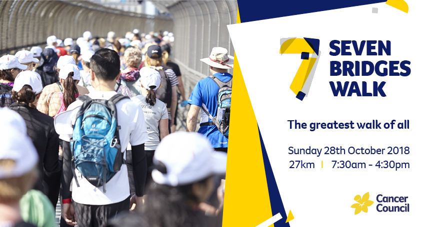 Find tickets from Cancer Council NSW 7 Bridges Walk