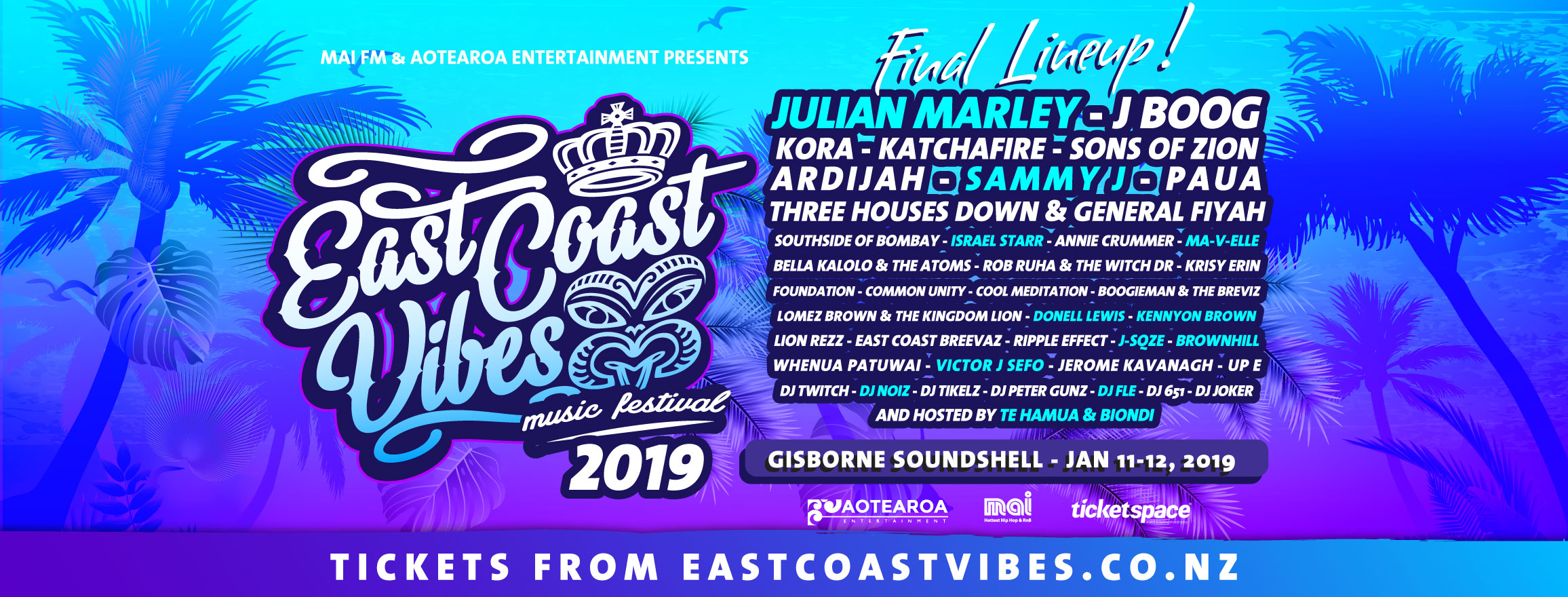 Tickets for EAST COAST VIBES - Gisborne in Gisborne from Ticketspace