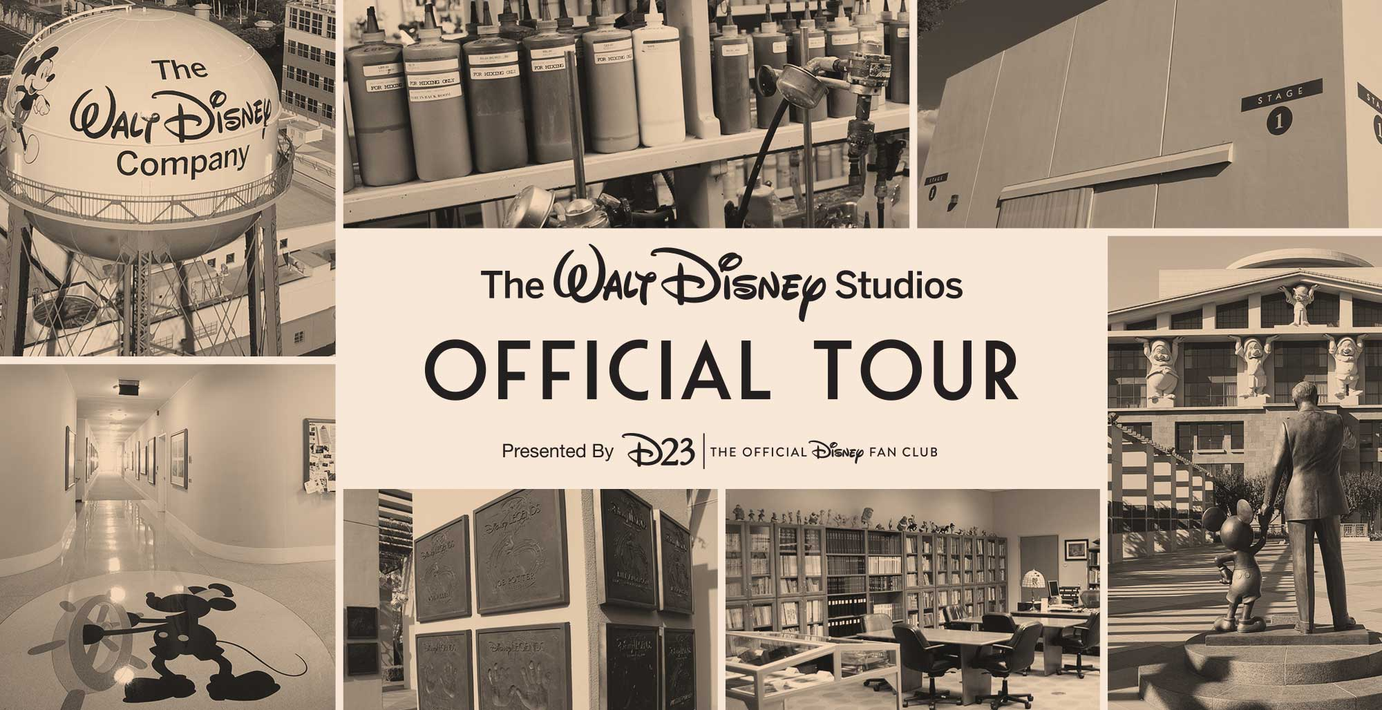 Tickets for The Official Walt Disney Studios Tour—D23 Gold Member Exclusive in Burbank from Disney D23