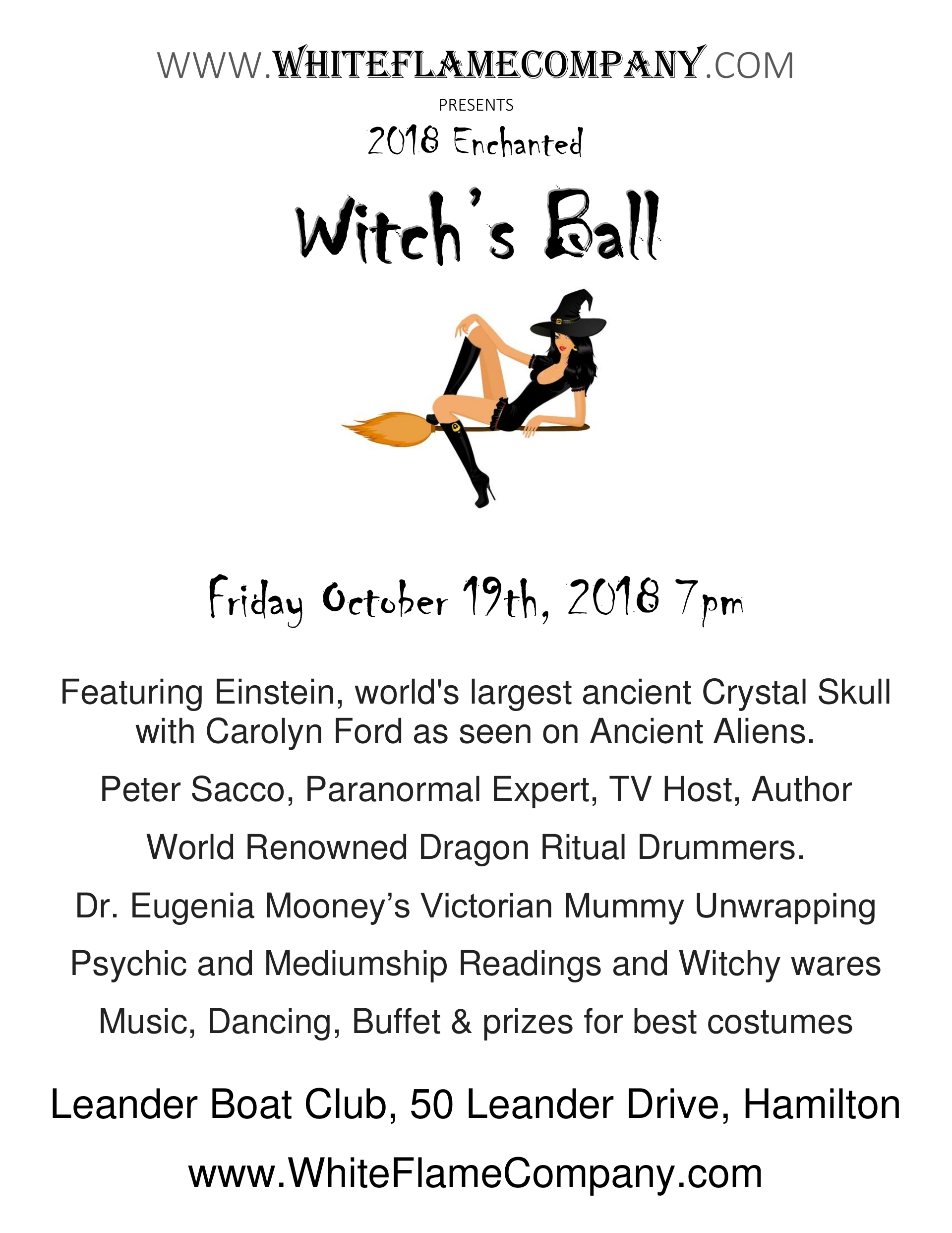 Tickets for 2018 Witches Ball in Hamilton from BrightStar Live Events