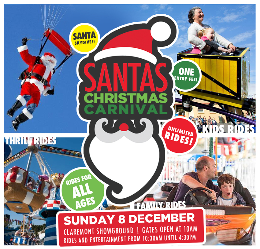 Tickets for Santa's Christmas Carnival 2019 in Claremont from Ticketbooth