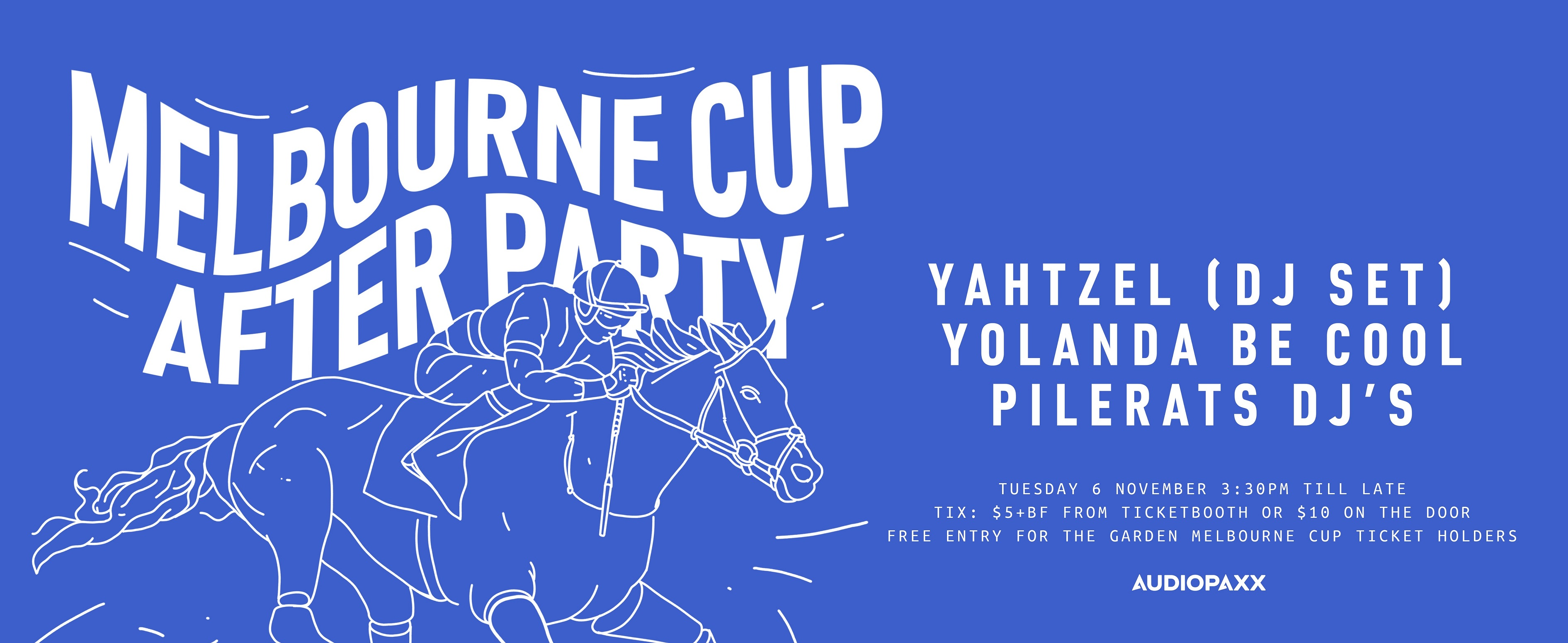 Tickets for Melbourne Cup Afterparty Yahtzel & Yolanda Be Cool in Leederville from Ticketbooth