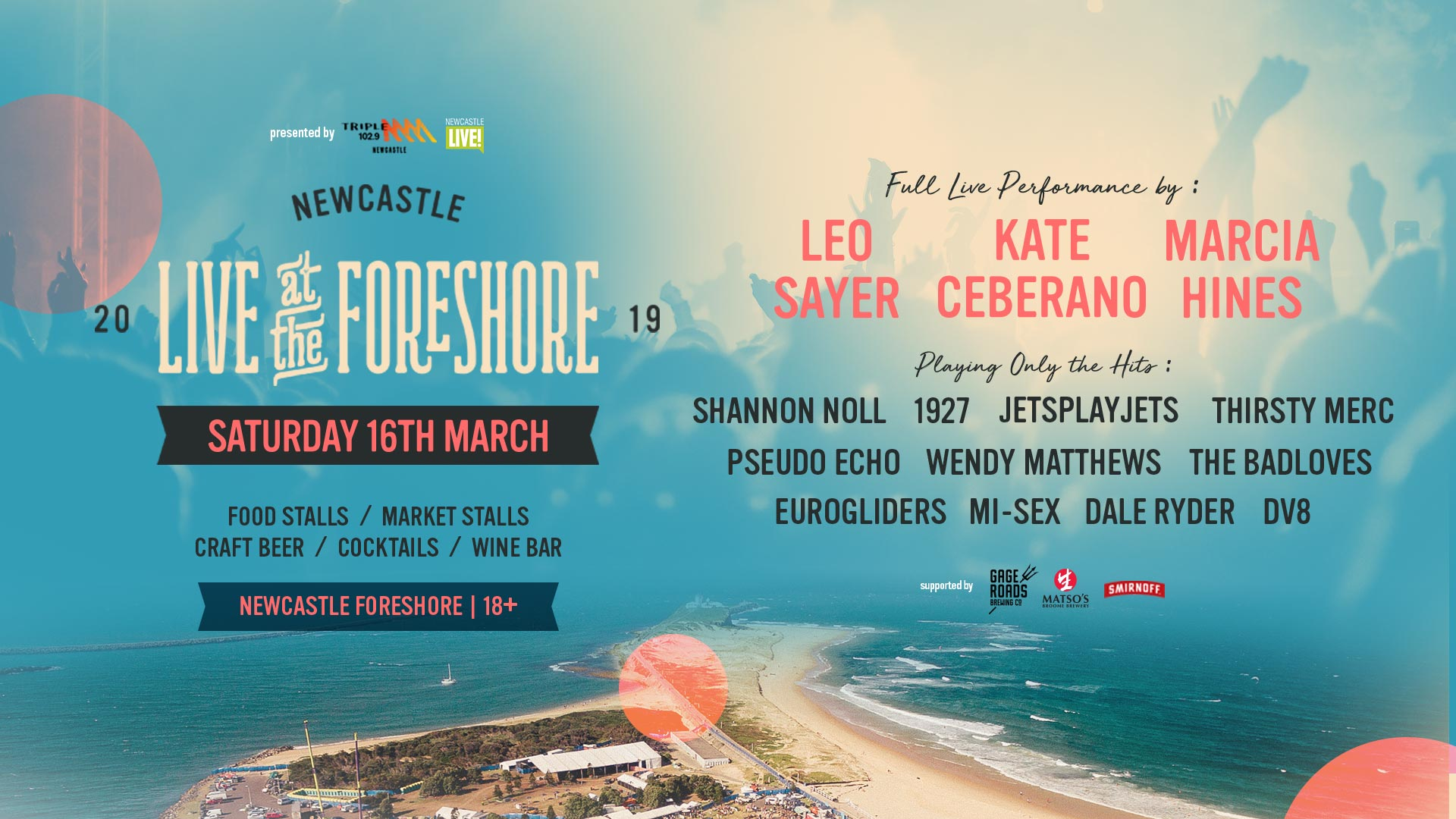 Tickets for LIVE AT THE FORESHORE 2019 in Newcastle from Ticketbooth