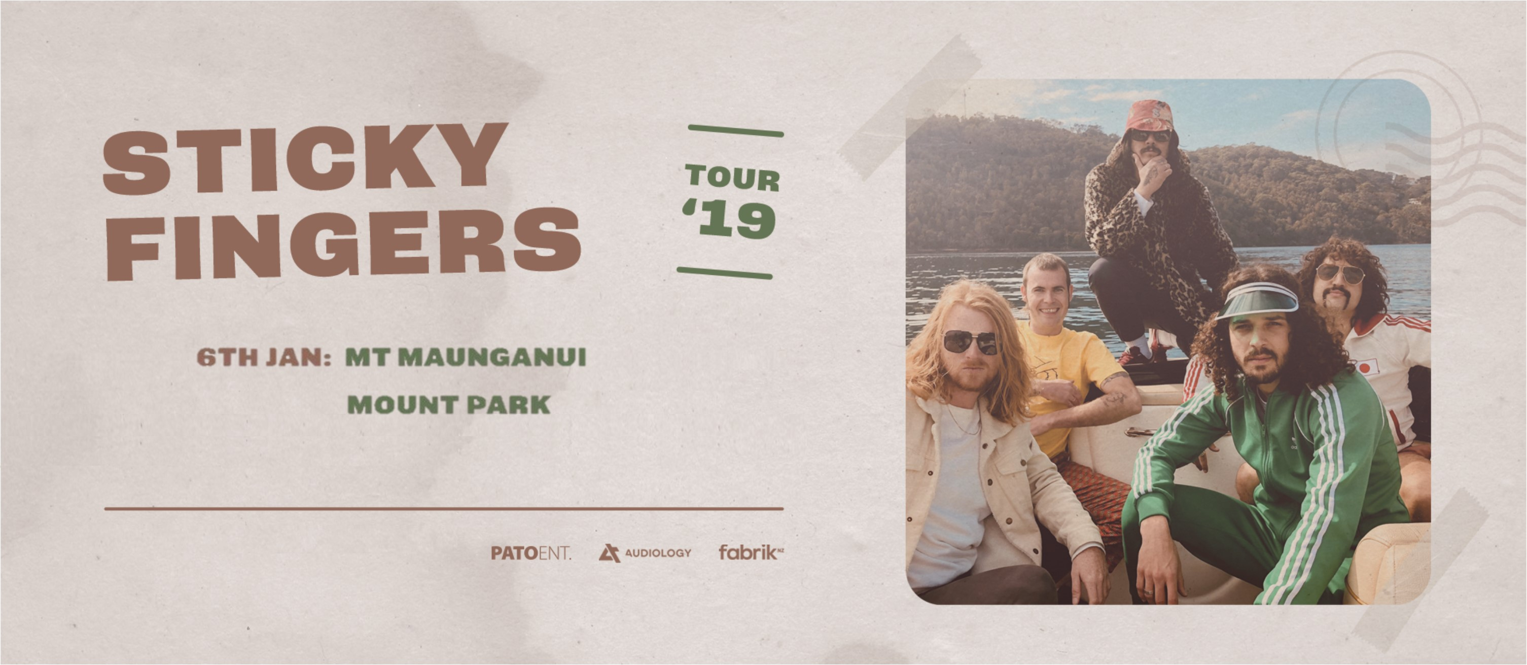 Tickets for STICKY FINGERS - Mt. Maunganui in Mount Maunganui from Ticketspace