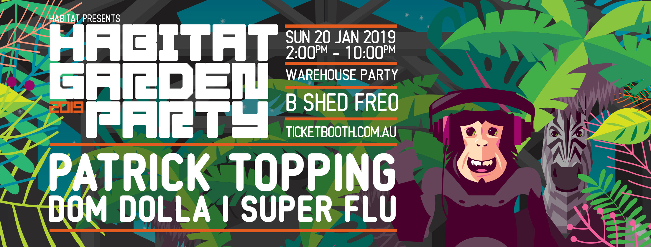 Tickets for Habitat Garden Party // Summer Warehouse Edition in Fremantle from Ticketbooth