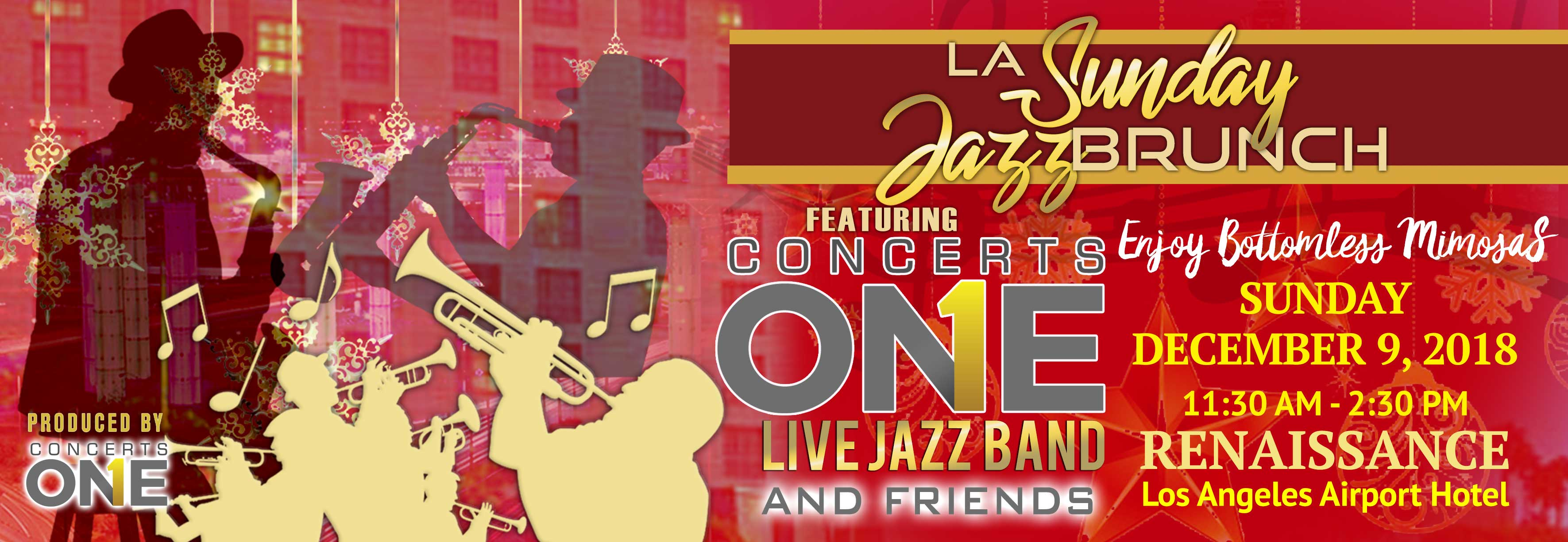 Tickets for LA Sunday Jazz Brunch Holiday Edition  in Los Angeles from ShowClix