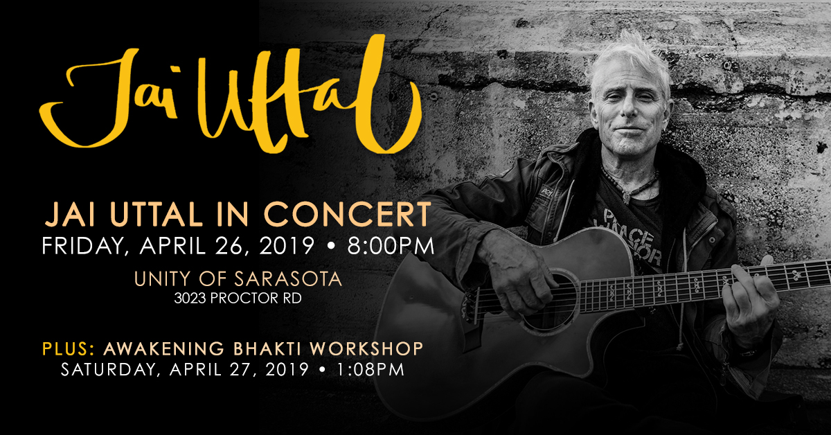 Tickets for Jai Uttal Sarasota Events in Sarasota from BrightStar Live Events