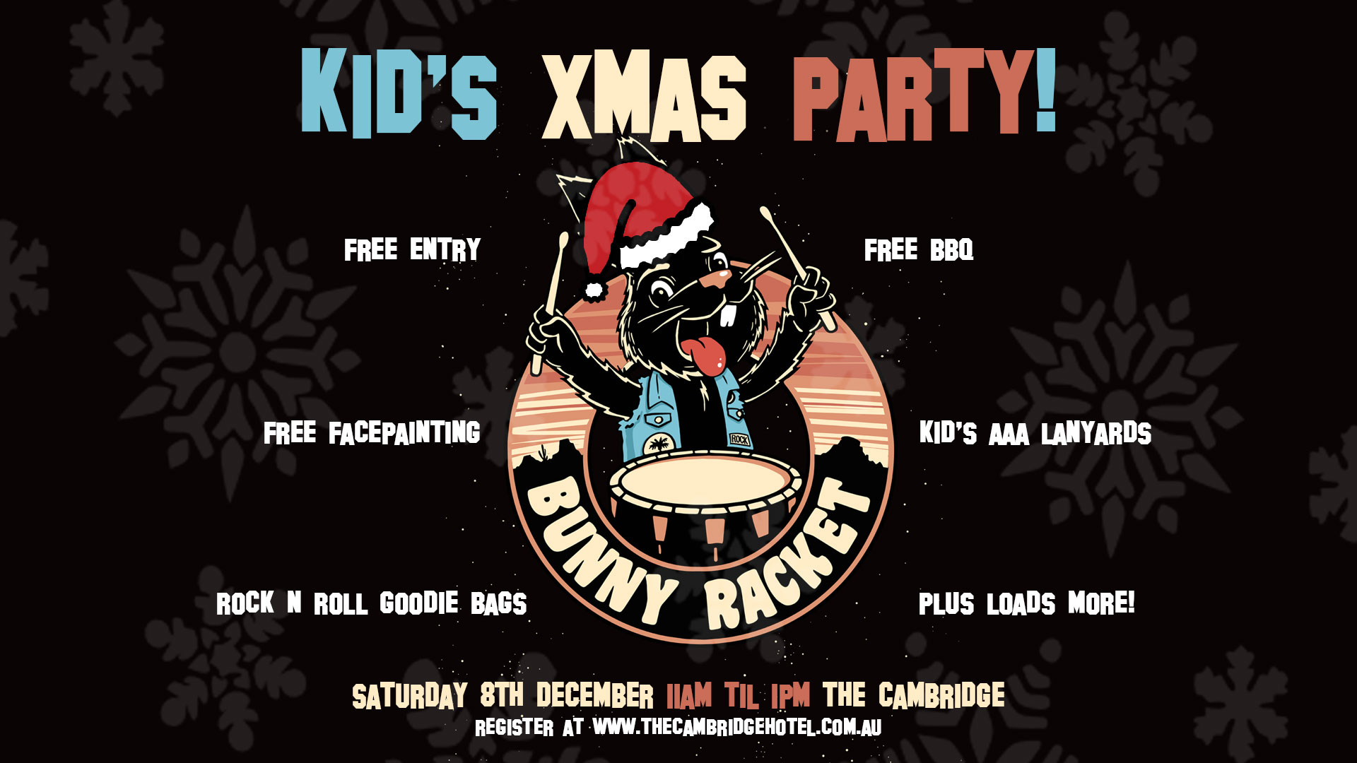 Tickets For Kids Christmas Party W Bunny Racket In Newcastle From Ticketbooth