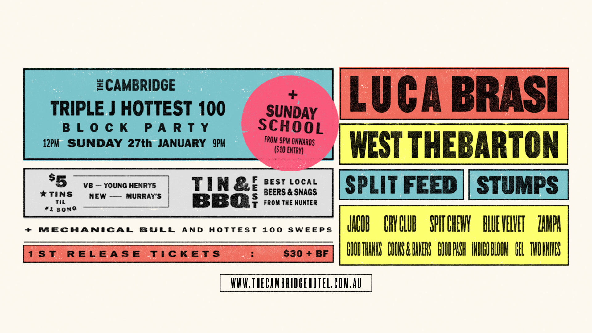 Tickets for Hottest 100 Block Party ft. Luca Brasi in Newcastle from Ticketbooth