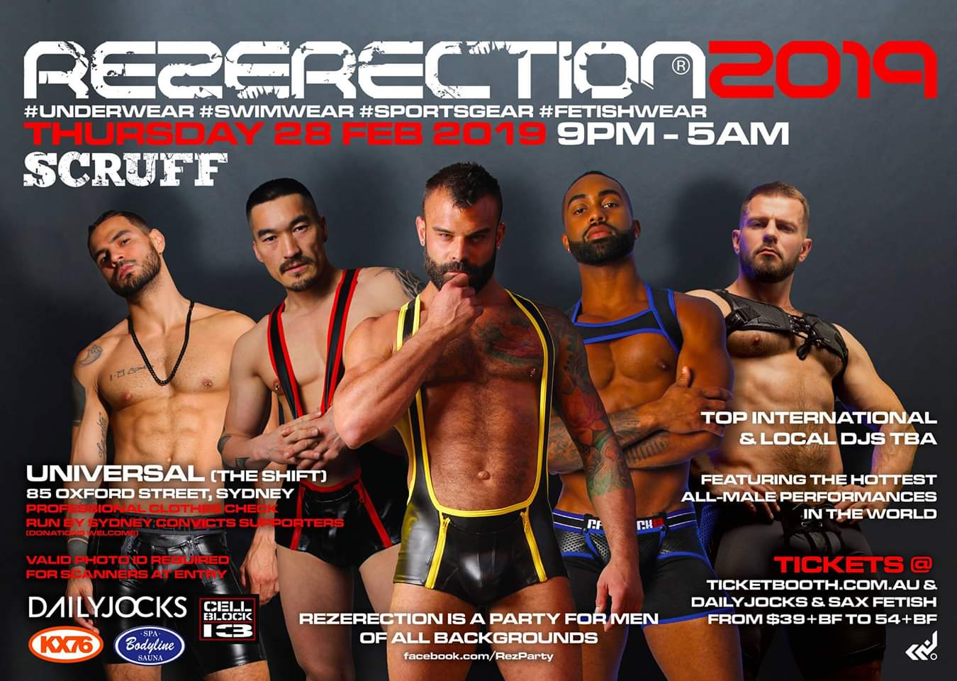 Tickets for REZERECTION 2019 by SCRUFF + link to 2020 party! in Sydney from Ticketbooth