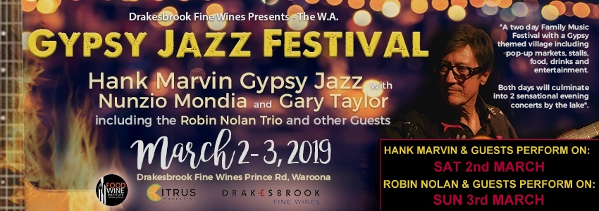 Tickets for The WA Gypsy Jazz Festival With Hank Marvin Gypsy Jazz in Waroona from Ticketbooth