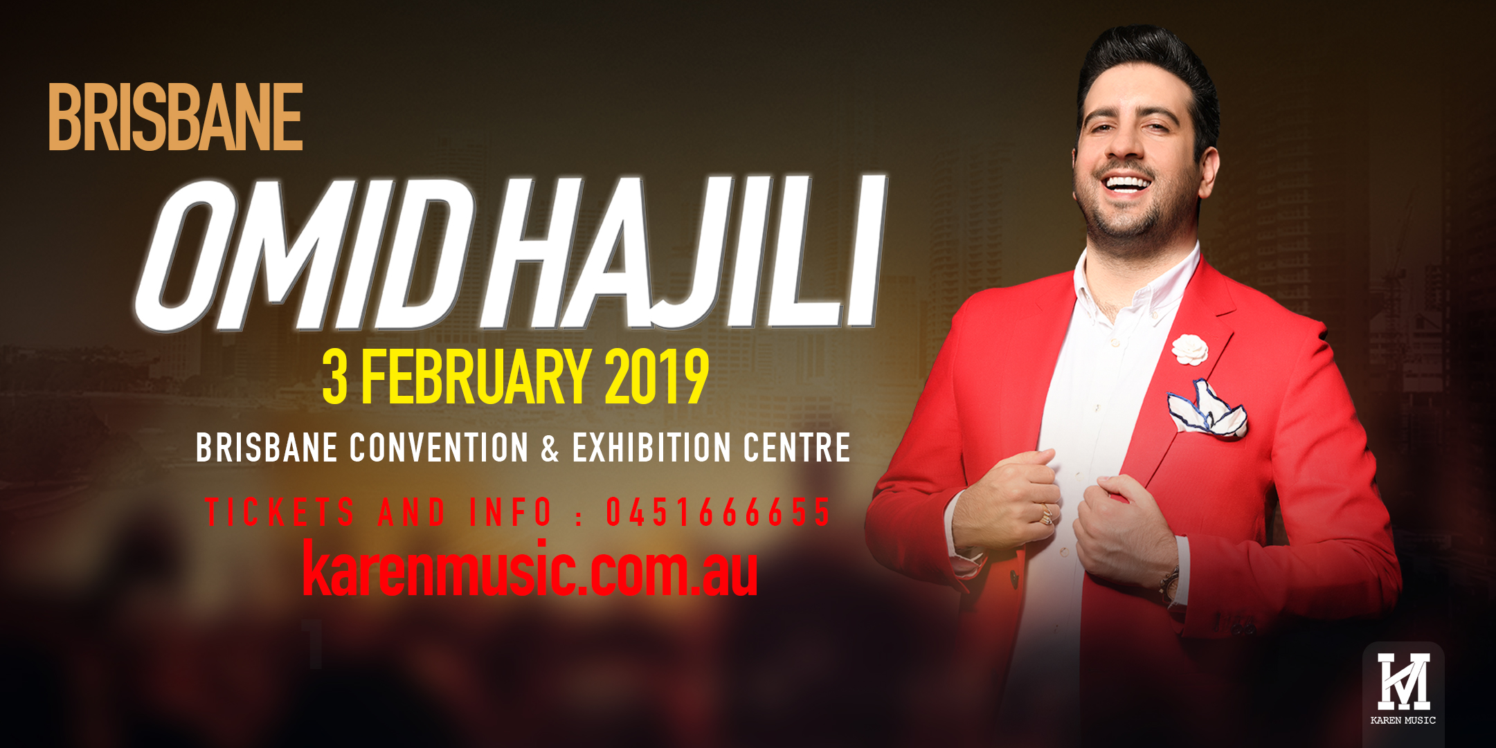 Tickets for Omid Hajili - Brisbane in South Brisbane from Ticketbooth