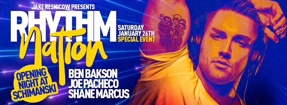 Tickets for Rhythm Nation | Opening Night at Schimanski | DJ Ben Bakson + Joe Pacheco + Shane Marcus in Brooklyn from ShowClix