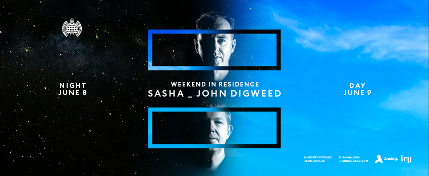 Tickets for Weekend In Residence: Sasha & John Digweed in Sydney from Merivale