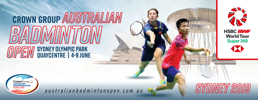 Tickets for  CROWN GROUP Australian Badminton Open 2019 - Multi Day Pass in Sydney Olympic Park from Ticketbooth