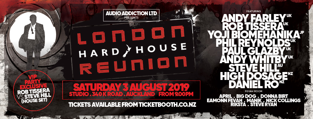 Tickets for London Hard House Reunion in Auckland from Ticketbooth New Zealand