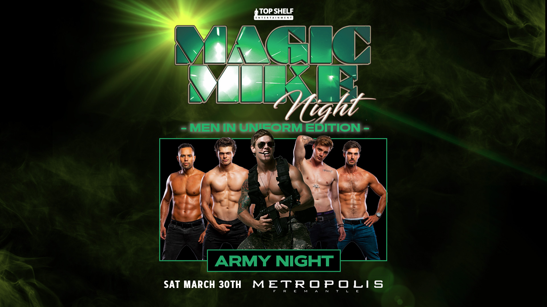 Tickets for Magic Mike Night: Men in Uniform - Army Night in Fremantle from Ticketbooth
