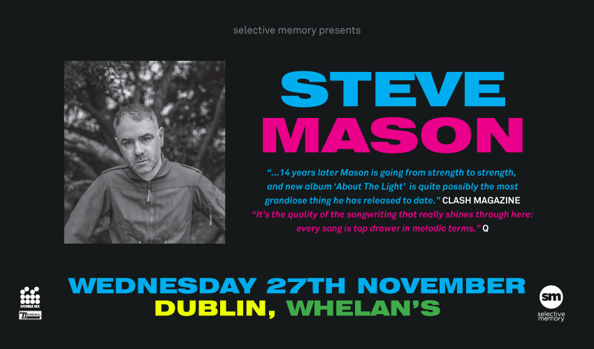 Tickets for Steve Mason in Dublin 2 from Ticketbooth Europe