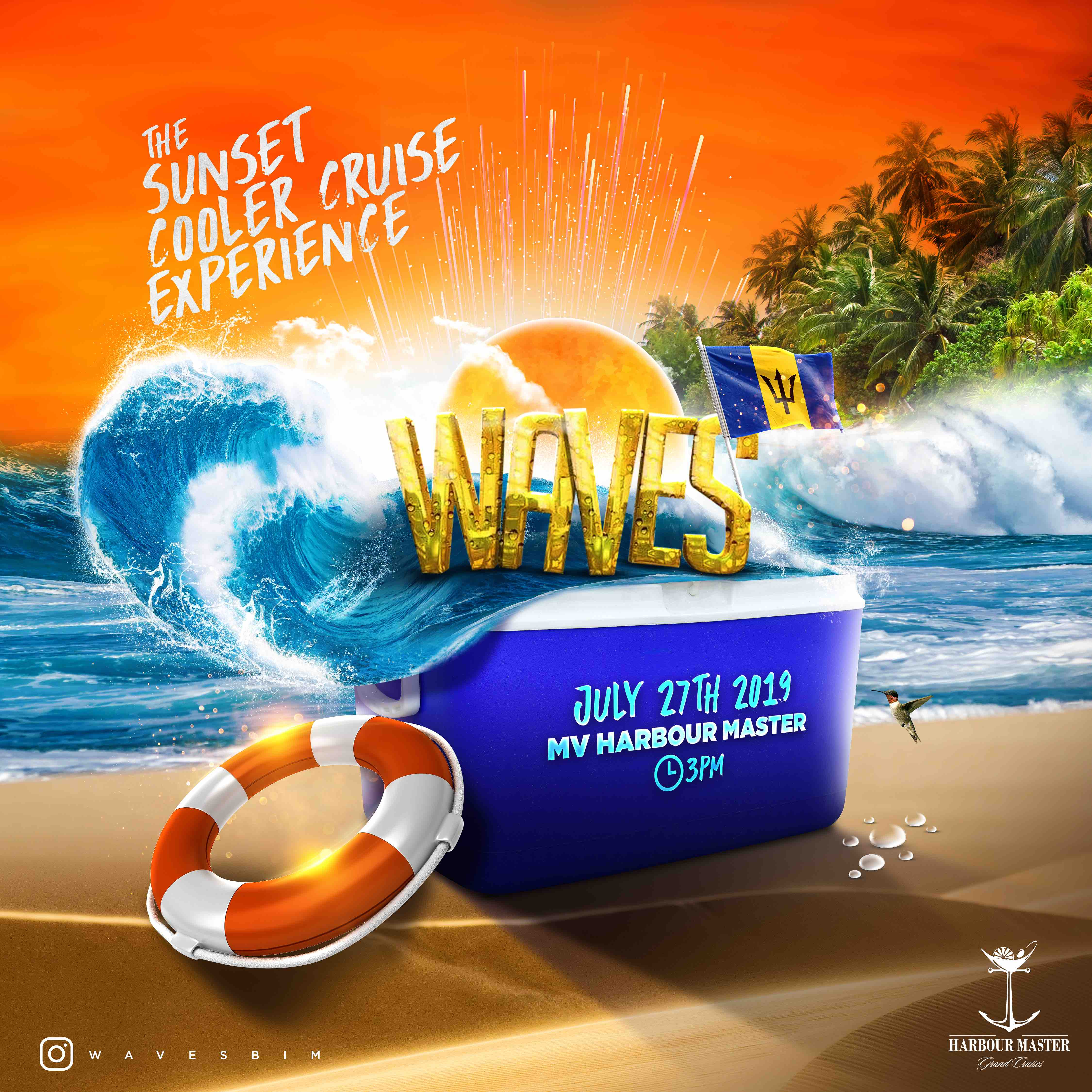 Tickets for WAVES : The Sunset Cooler Cruise Experience in Bridgetown from Ready Tickets Inc