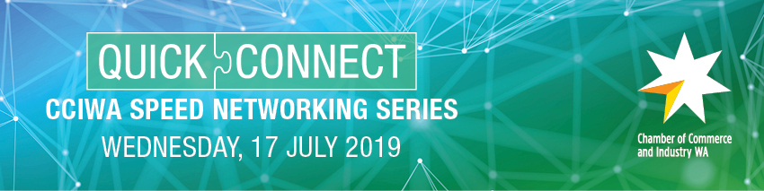 Tickets for CCIWA Quick Connect Speed Networking Series in East Perth from Ticketbooth