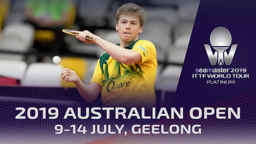 Tickets for Seamaster 2019 ITTF World Tour Platinum, Australian Open - All Sessions Pass in North Geelong from Geelong Australia
