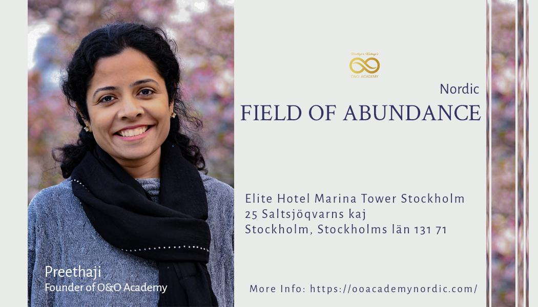 Tickets for Field of Abundance - Nordic for OCLC Guests in Stockholm from BrightStar Live Events