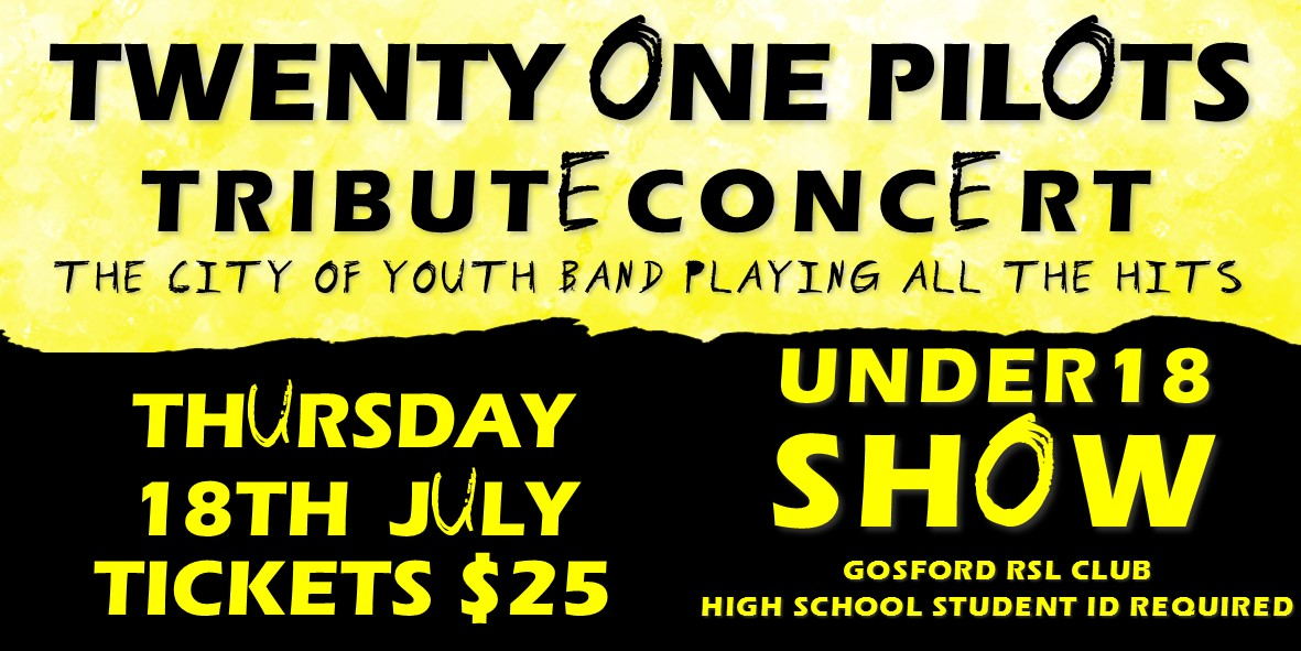 Tickets for TWENTY ONE PILOTS TRIBUTE CONCERT in West Gosford from Ticketbooth