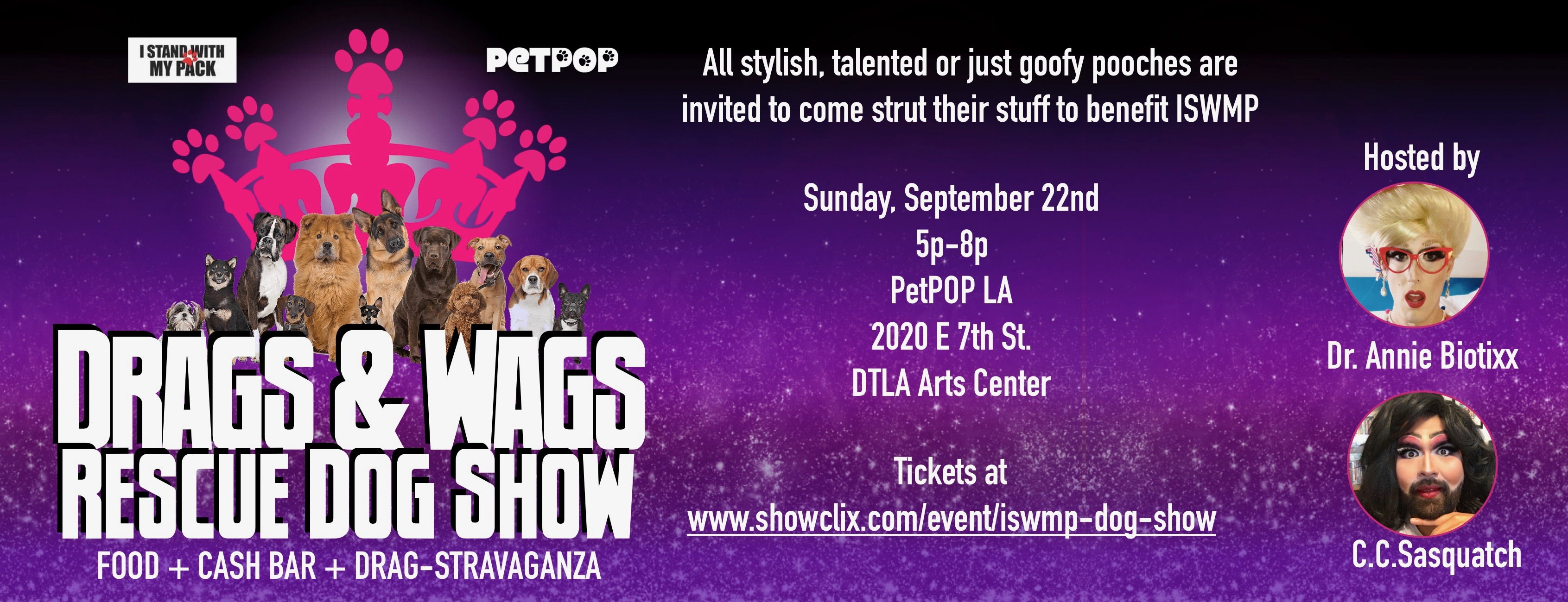Tickets for Drags and Wags Rescue Dog Show in Los Angeles from ShowClix
