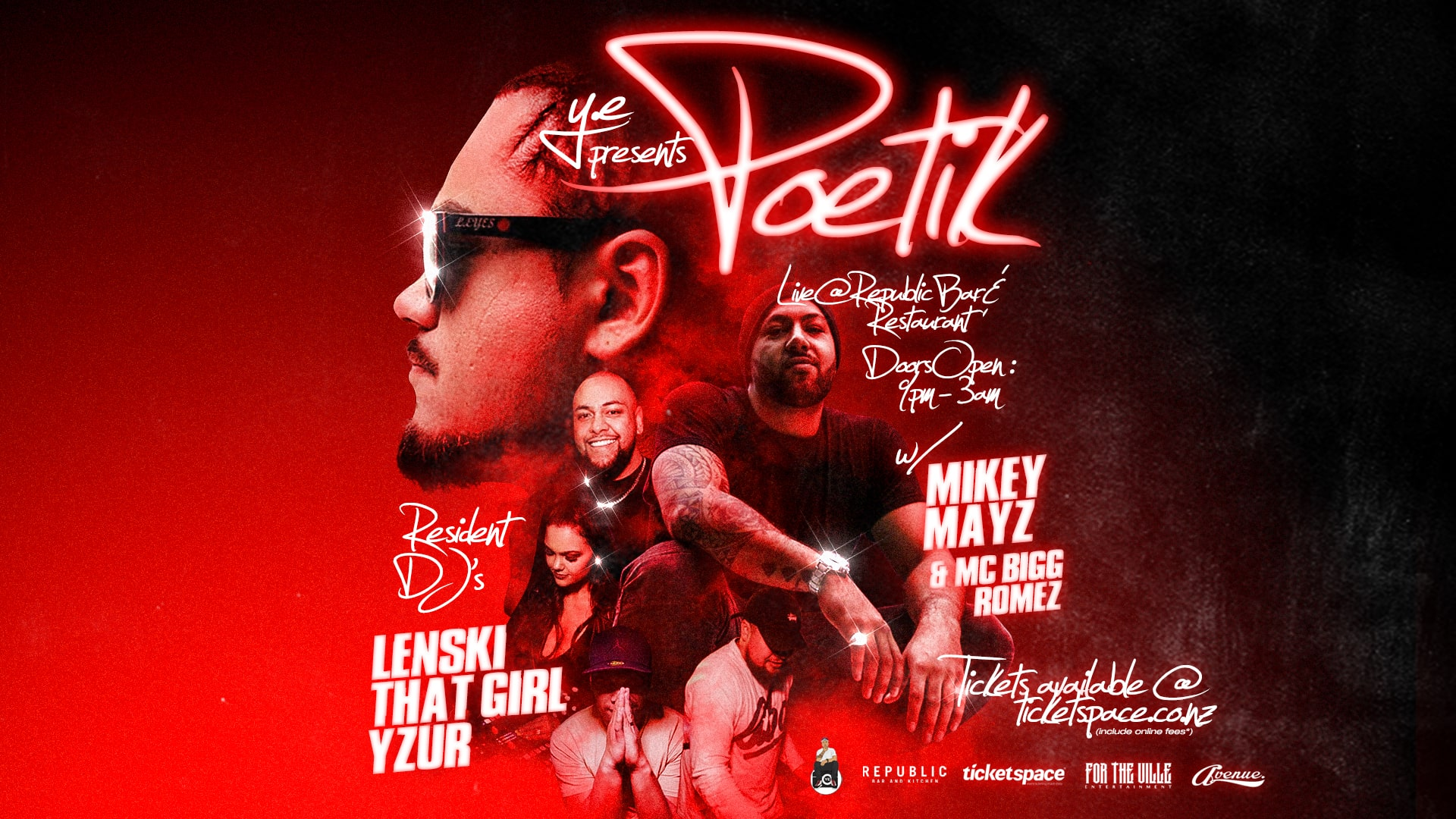 Tickets for POETIK live @ Republic Bar - Manukau in Auckland from Ticketspace