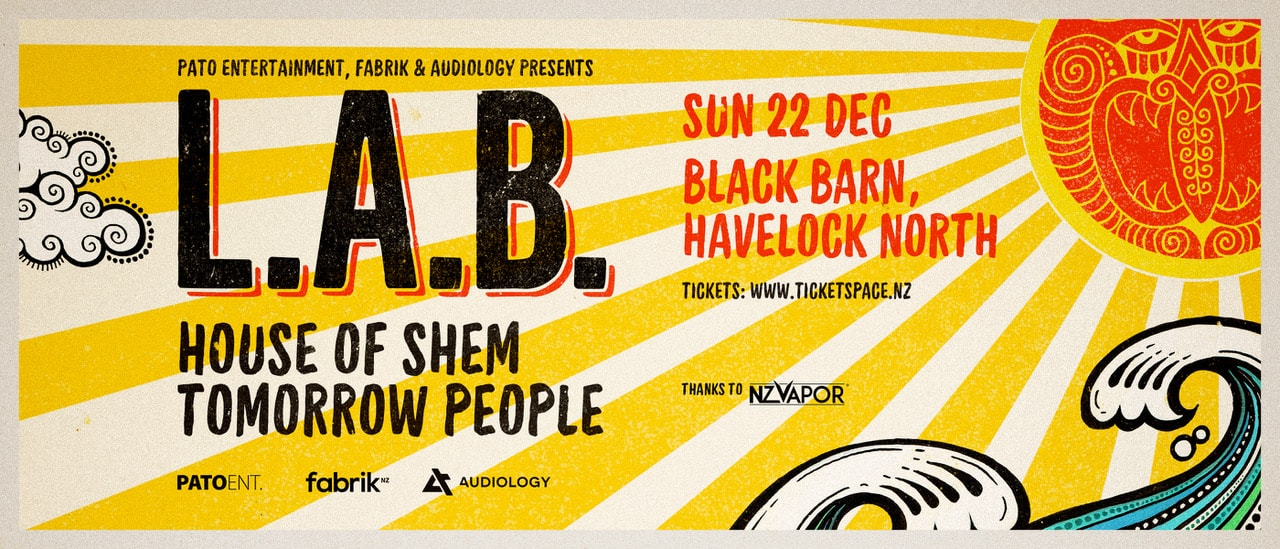 Tickets for L.A.B - Black Barn, Havelock North in Havelock North from Ticketspace