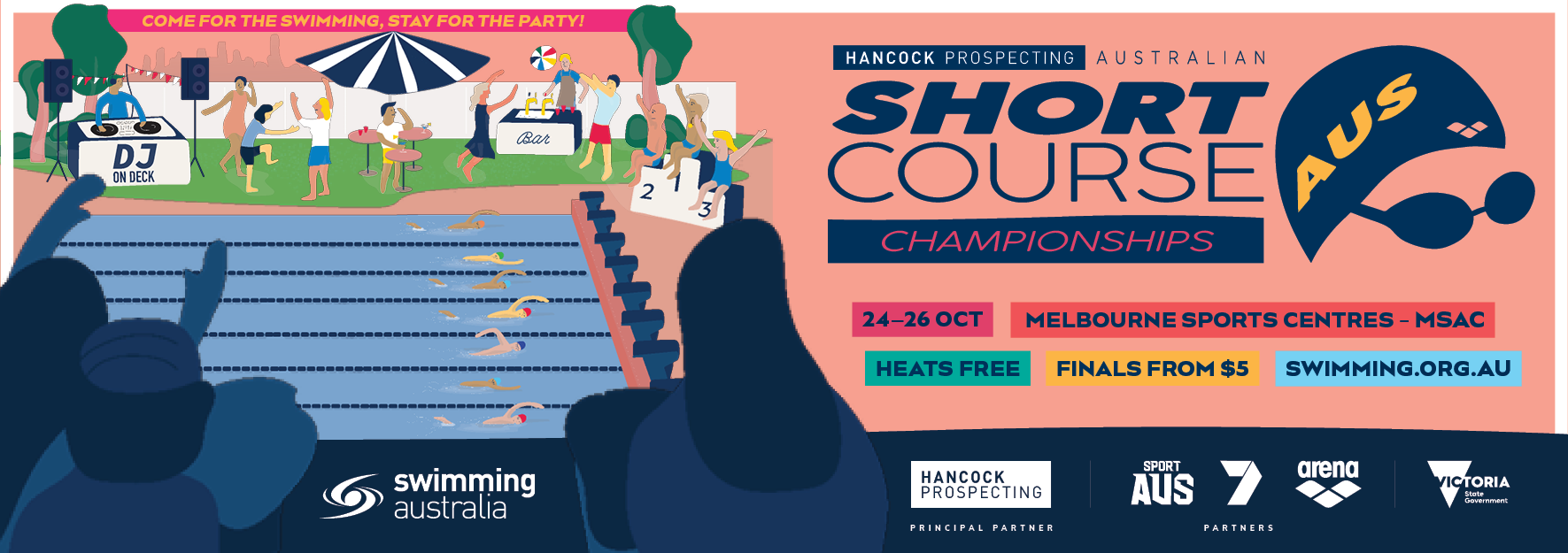 Tickets for 2019 Hancock Prospecting Australian Short Course Swimming Championships in Albert Park from Melbourne Sports Centre