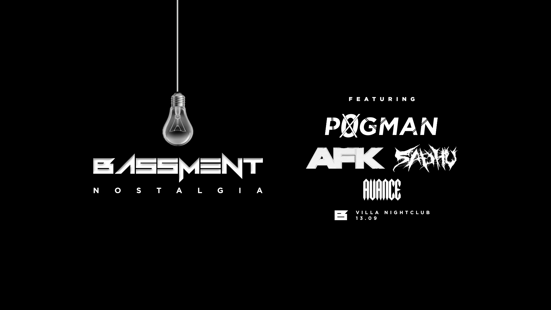 Tickets for BASSMENT - NOSTALGIA Ft. PØGMAN, AFK & SADHU in Perth from Ticketbooth