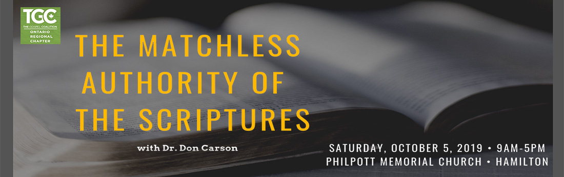 Tickets for The Matchless Authority of the Scriptures in Hamilton from BuzzTix