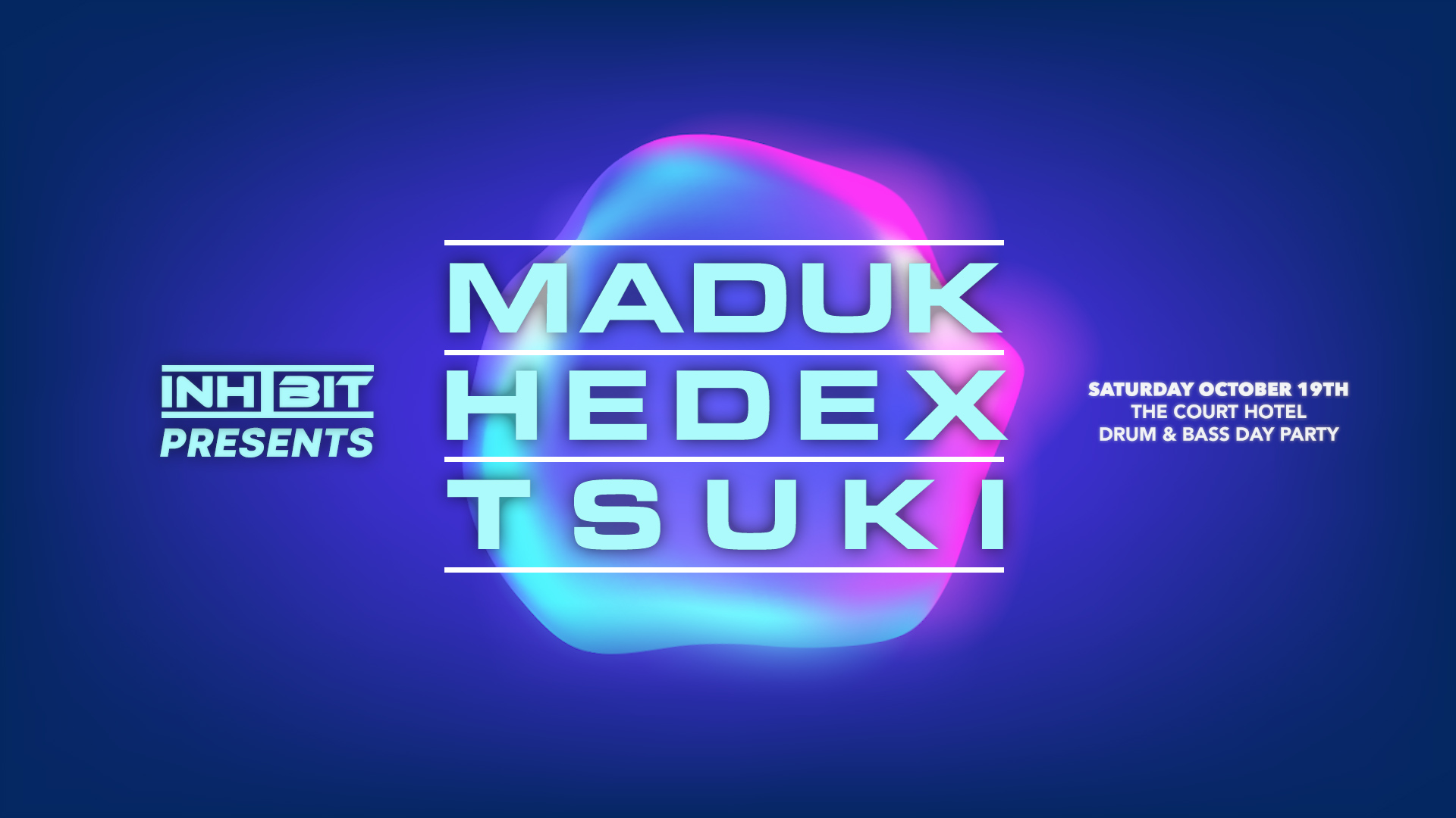 Tickets for Inhibit presents Maduk, Hedex & Tsuki in Perth from Ticketbooth