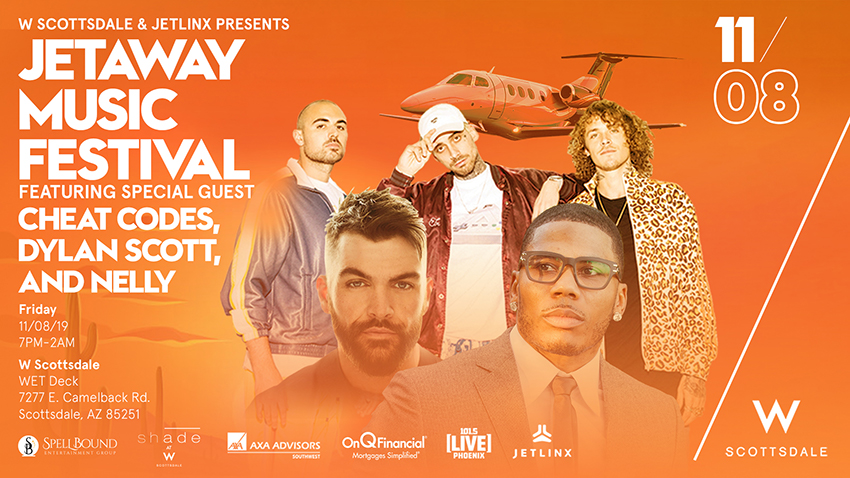 Tickets for JETAWAY MUSIC FESTIVAL WITH CHEAT CODES, DYLAN SCOTT, & NELLY in Scottsdale from SLE TIX