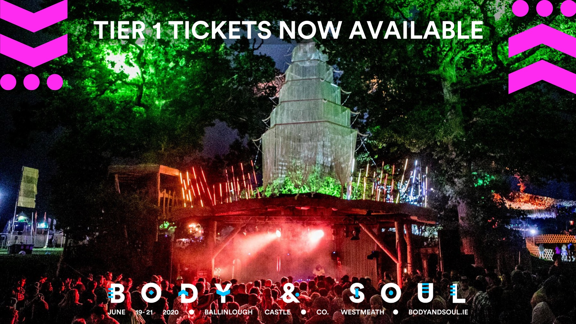 Tickets for Body&Soul Festival 2018 - Boutique Camping in Co.Westmeath from Ticketbooth Europe