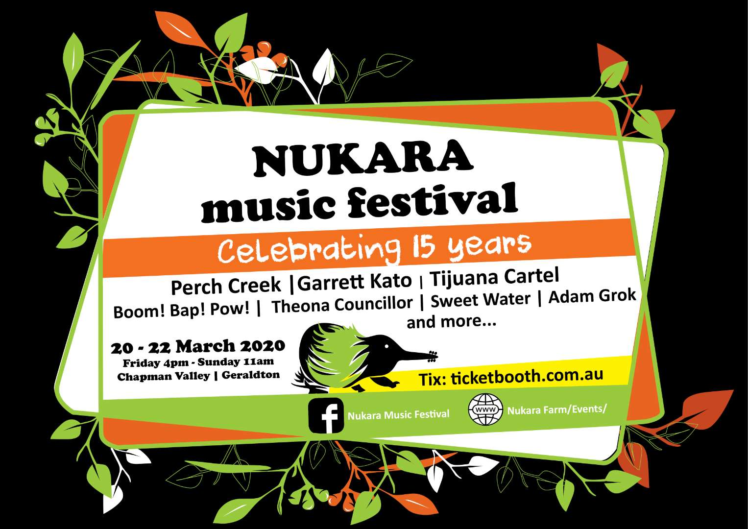 Tickets for Nukara Music Festival 15th Anniversary 2020 in Nanson from Ticketbooth