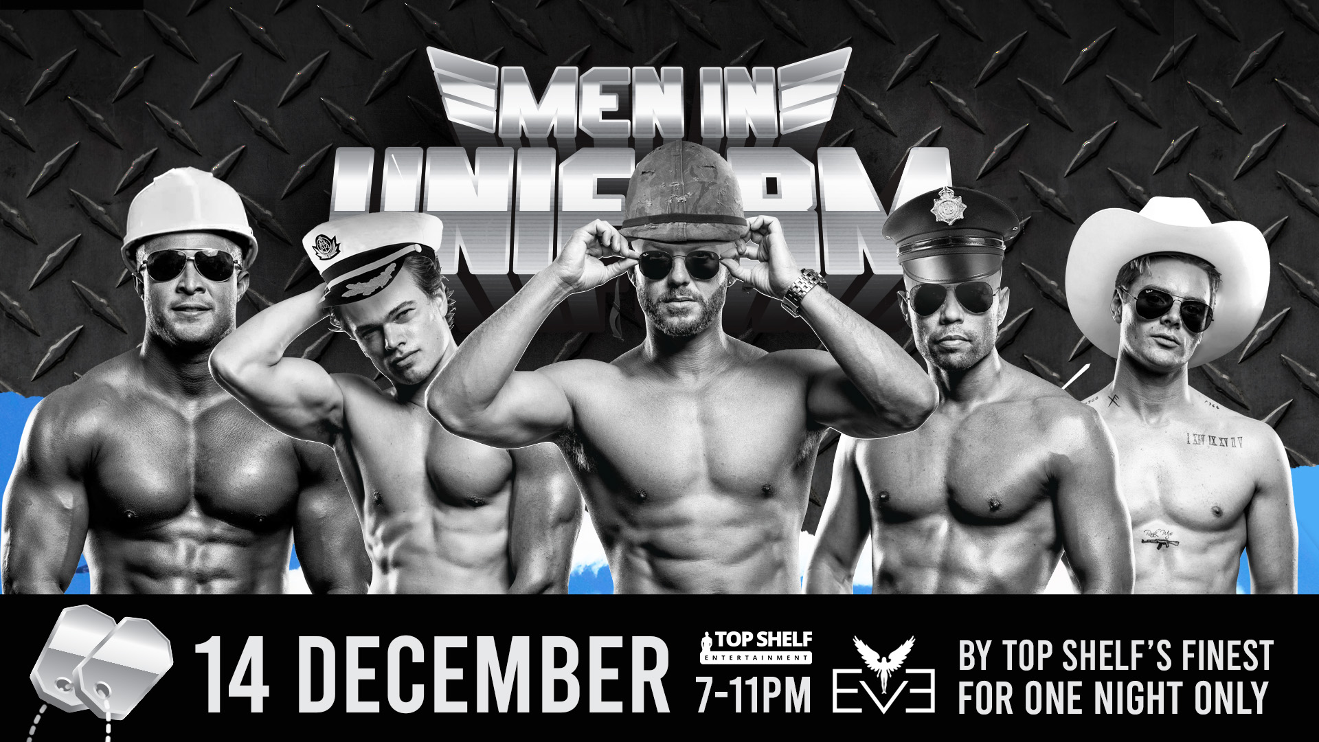 Tickets for Men In Uniform One Night Only at Crown in Burswood from Ticketbooth