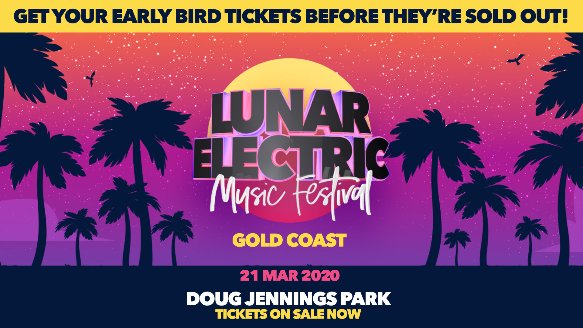 Tickets for Lunar Electric Music Festival Gold Coast 2020 in Main Beach from Ticketbooth