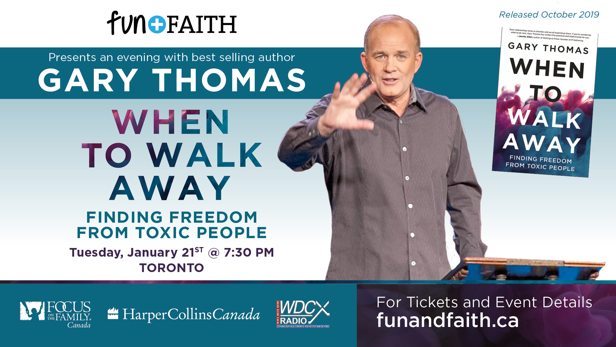 Tickets for When To Walk Away with Gary Thomas in Toronto from BuzzTix