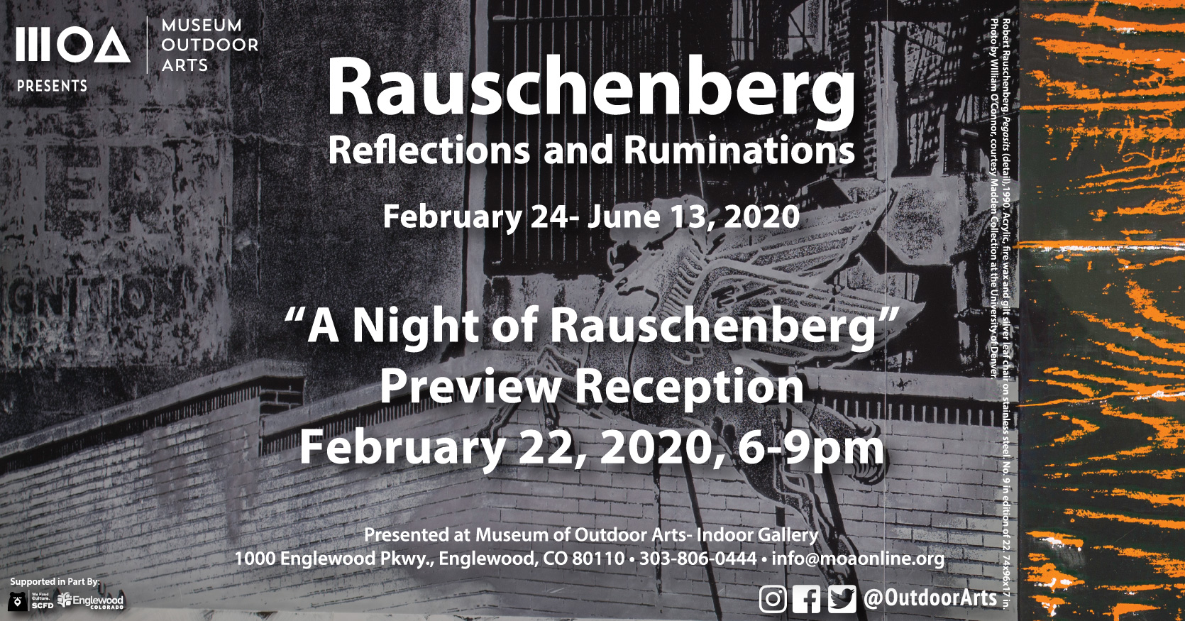 Tickets for A Night of Rauschenberg in Englewood from ShowClix