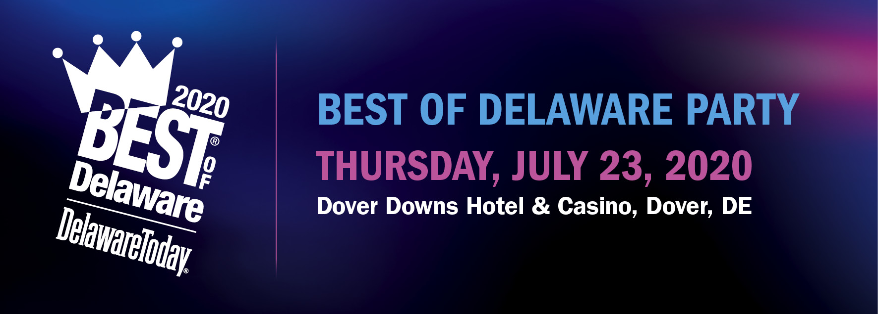 Tickets for 2020 Best of Delaware Party in Dover from ShowClix