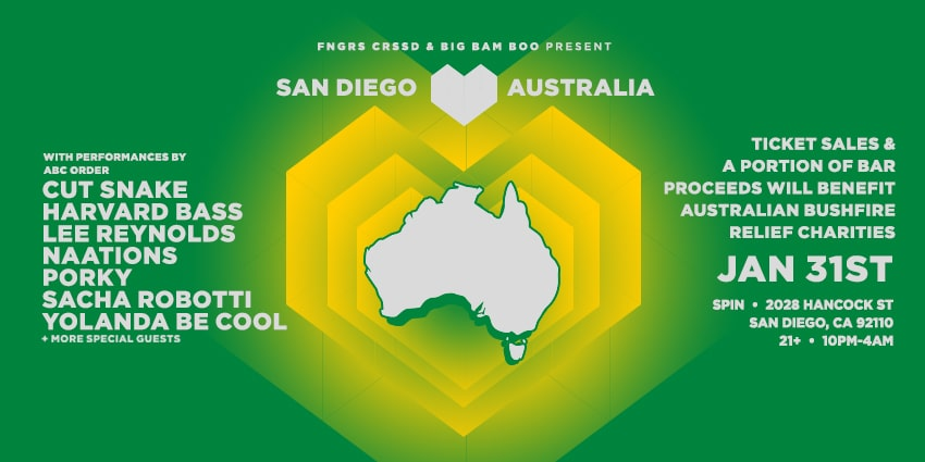 Tickets for FNGRS CRSSD presents San Diego Loves Australia in San Diego from ShowClix