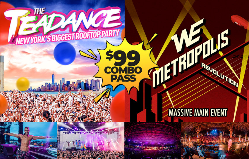 Tickets for PRIDE SATURDAY: The Tea Dance + WE Party Massive Main Event + Revolver in New York from ShowClix