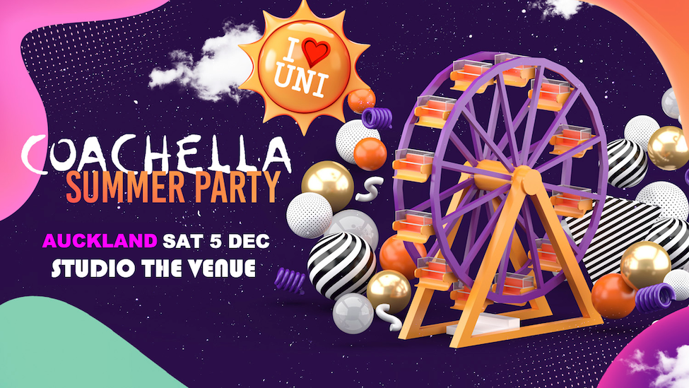 Tickets for End of Year Coachella Summer Party in Auckland from Ticketbooth New Zealand