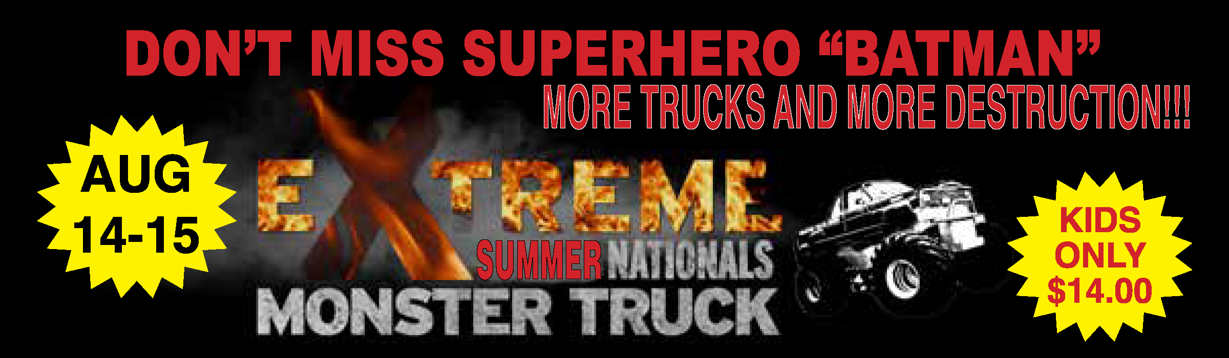 Tickets for MONSTER TRUCK SUMMER NATIONALS CHICKASHA OK.  2020 in CHICKASHA from ShowClix