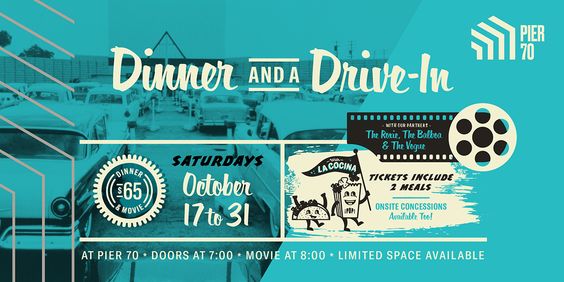 Find tickets from Pier 70 Dinner and A Drive-In