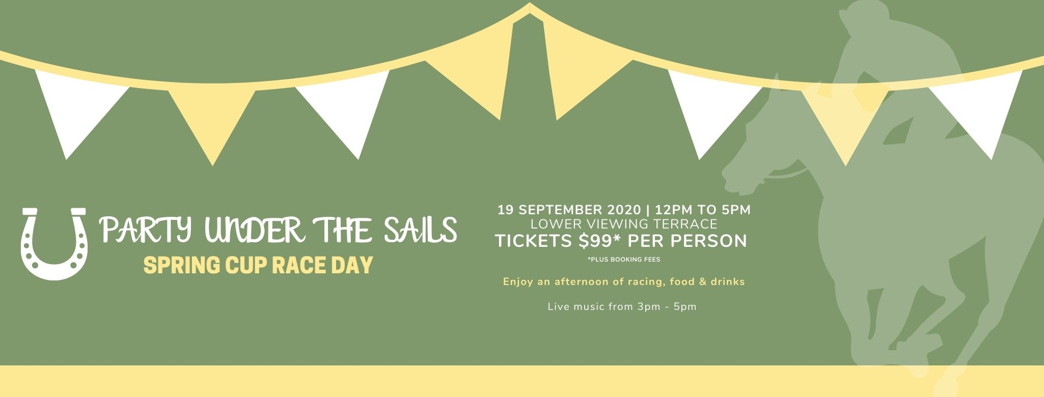 Tickets for Spring Cup Race Day - Party Under the Sails in BUNDAMBA from Ticketbooth