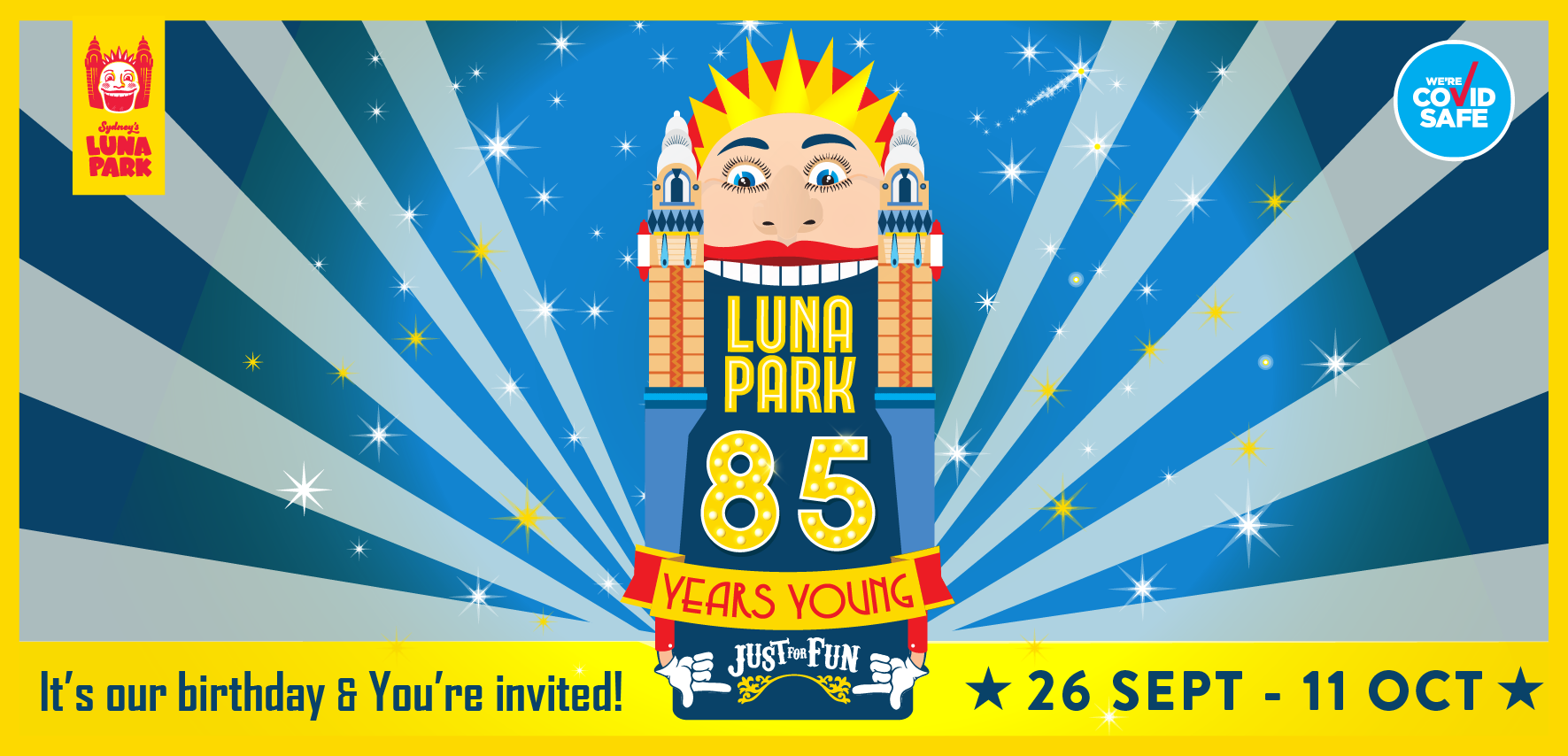 Tickets for 	Luna Park's 85th Birthday Celebrations in Milsons Point from Big Top Sydney