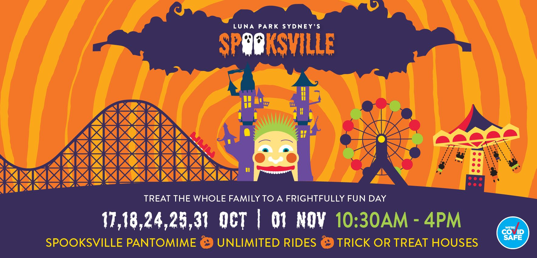 Tickets for 	Luna Park's Spooksville in Milsons Point from Big Top Sydney